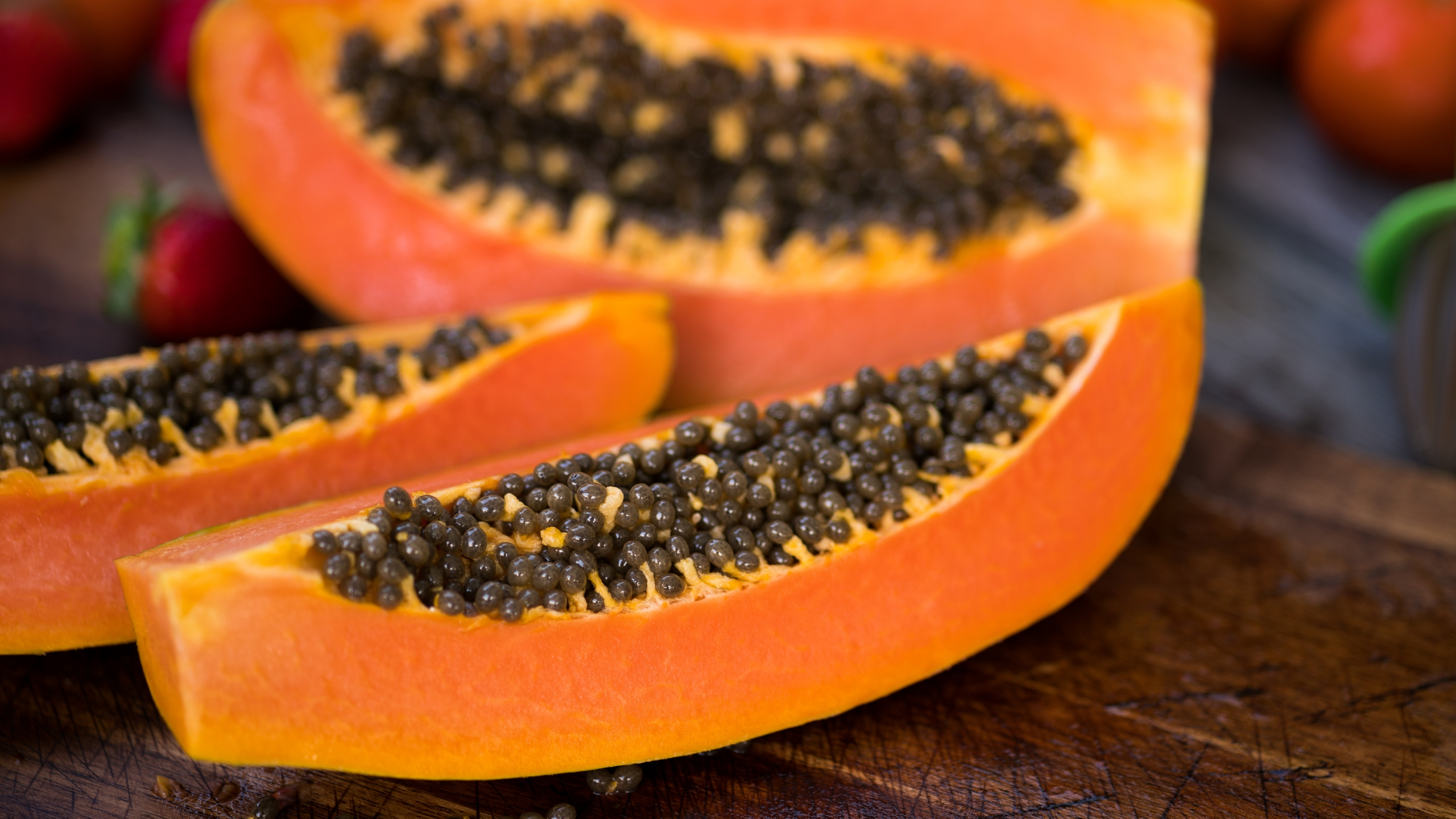 Sliced papayas are seen in this file photo. (Credit: Getty Images)