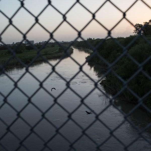 The Rio Grande flows under the Brownsville & Matamoros International Bridge on June 28, 2018, near Brownsville, Texas. (Credit: Tamir Kalifa/Getty Images)
