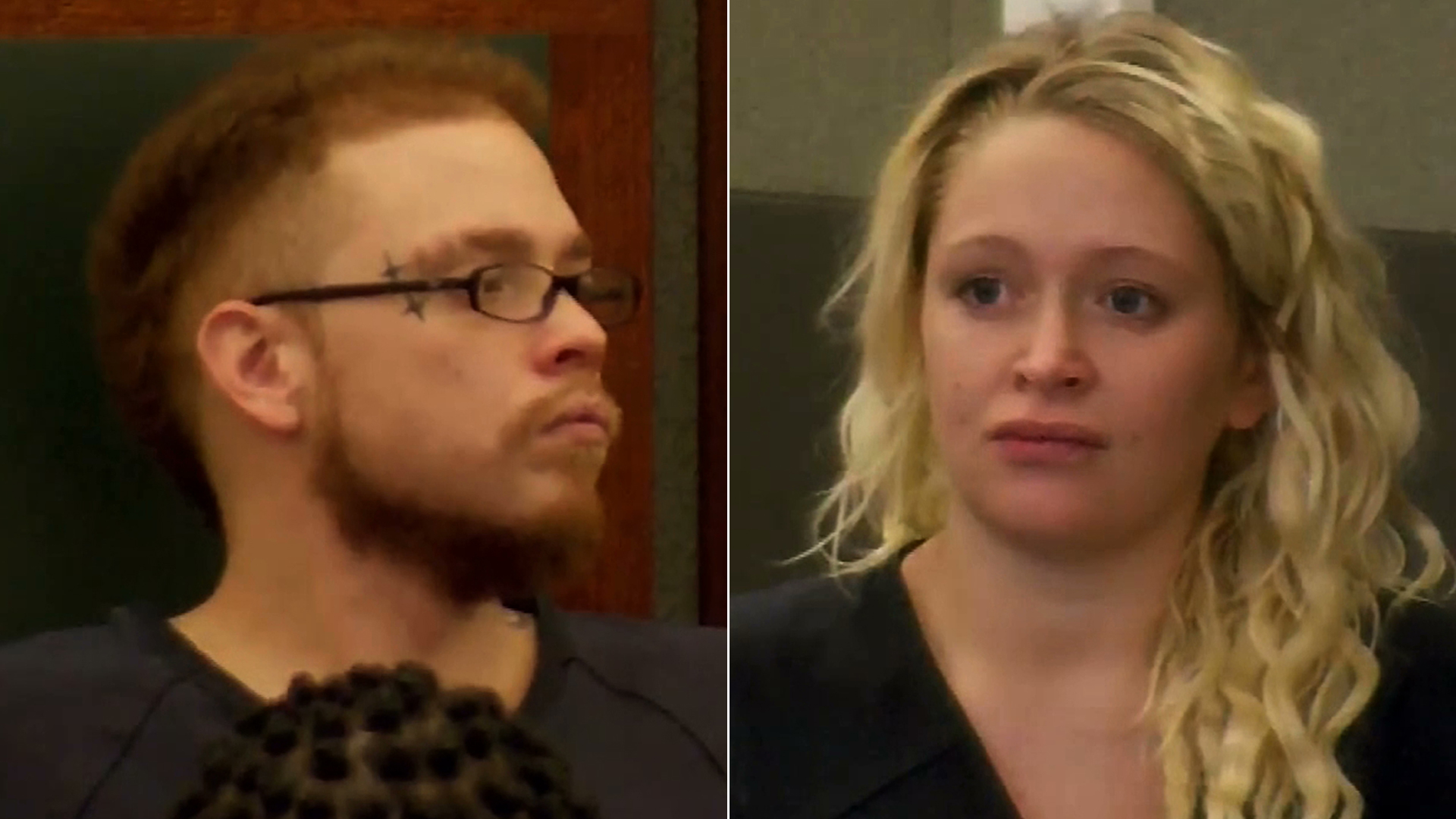 Jon Kennison, left, and Kelsey Turner appear in court in Las Vegas on June 13, 2019. (Credit: KVVU via CNN)