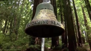 The El Camino Real Bell at the University of California Santa Cruz is seen in this CNN photo.