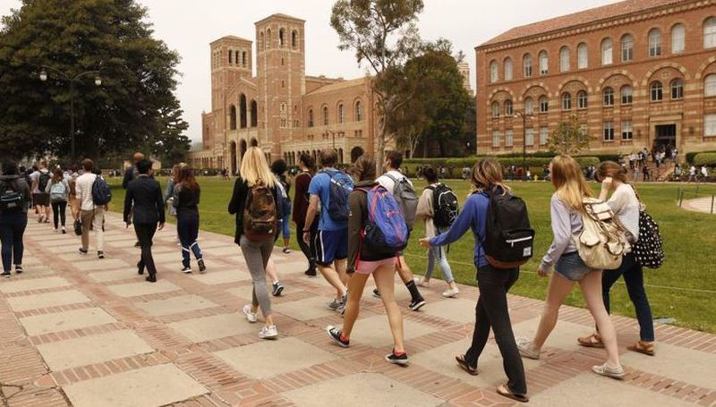 The UCLA campus outside Royce Hall is seen in this undated photo. (Los Angeles Times)