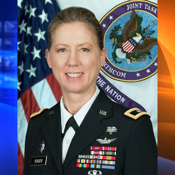Brigadier General Laura L. Yeager is seen in a posted on the National Guard's website.