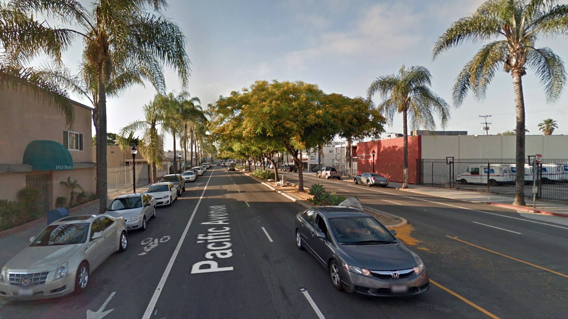 The 1900 block of Pacific Avenue in Long Beach is seen in a Google Maps Street View image from June 2017.