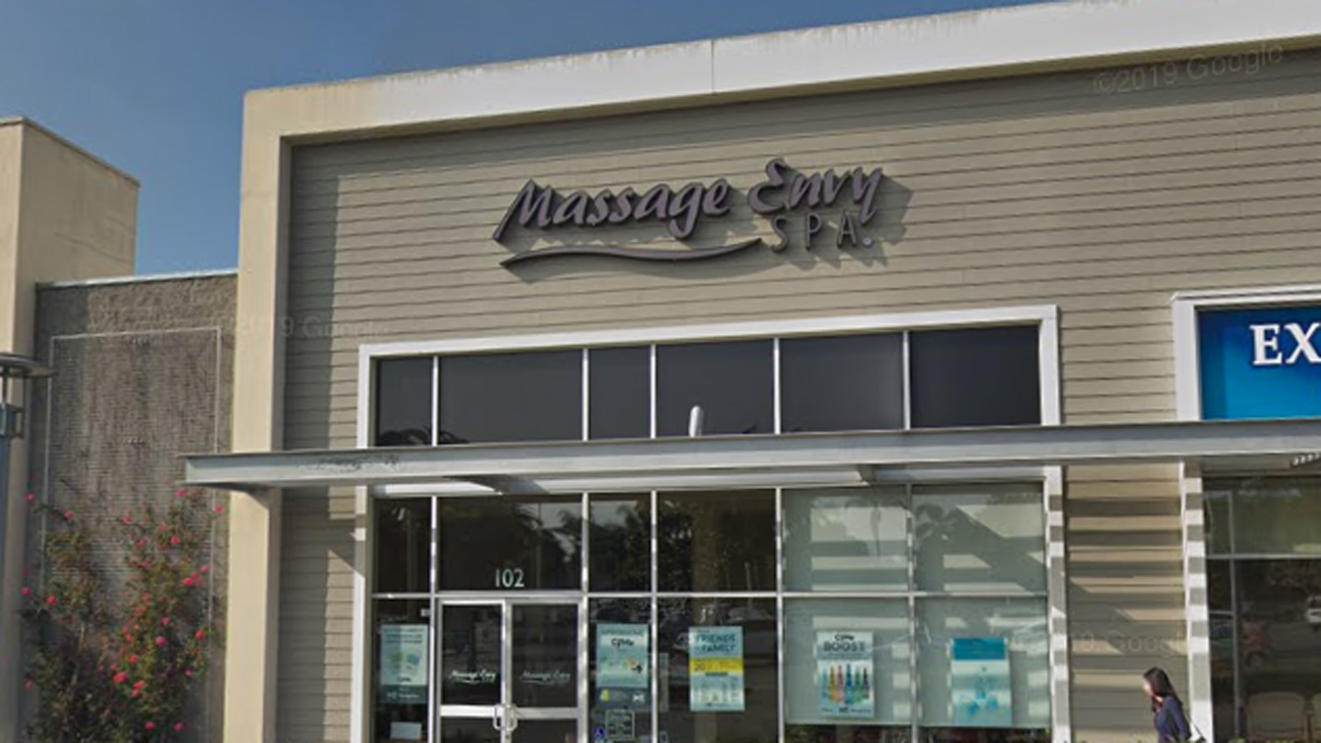 The Massage Envy located at 103 Mills Road is seen in a Google Maps image.