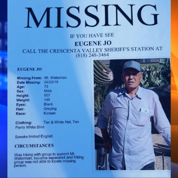 Montrose Search and Rescue tweeted out this flier as they searched for Eugene Jo, a hiker missing in the San Gabriel Mountains.