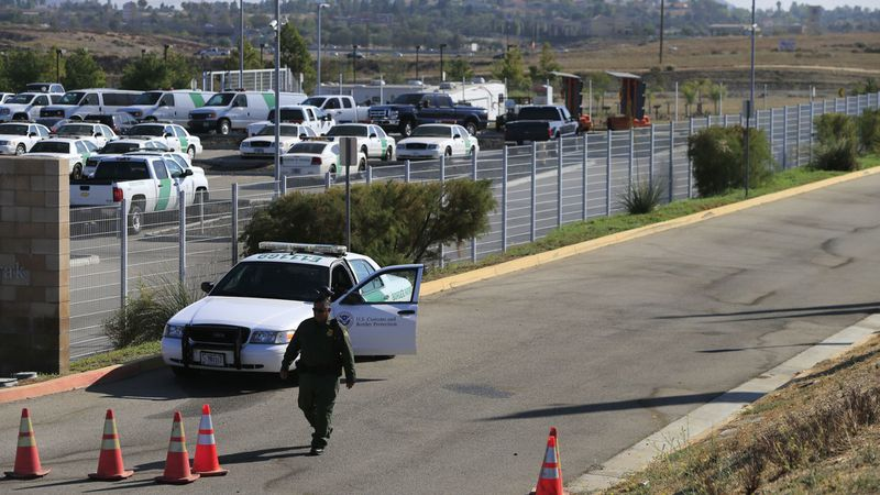 The Theodore L. Newton Jr. and George F. Azrak Border Patrol Station in Murrieta, pictured here in 2014. (Credit: Mark Boster / Los Angeles Times)