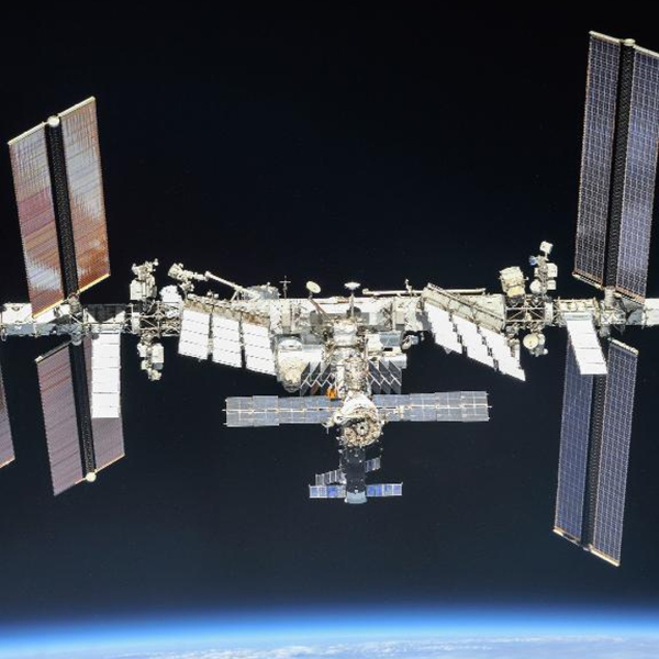 An image of the International Space Station provided by NASA.