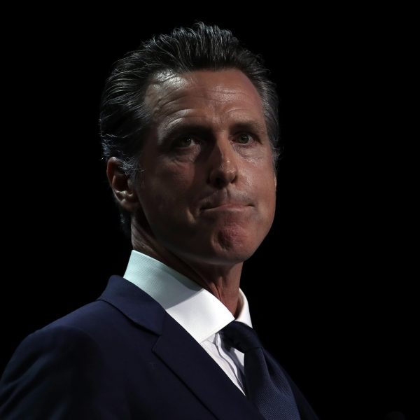 Gov. Gavin Newsom speaks during the California Democratic Party State Convention in San Francisco on June 1, 2019. (Credit: Justin Sullivan / Getty Images)