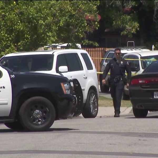 Officers respond to a fatal shooting in the 14600 block of Demblon Street in Baldwin Park on June 28, 2019.