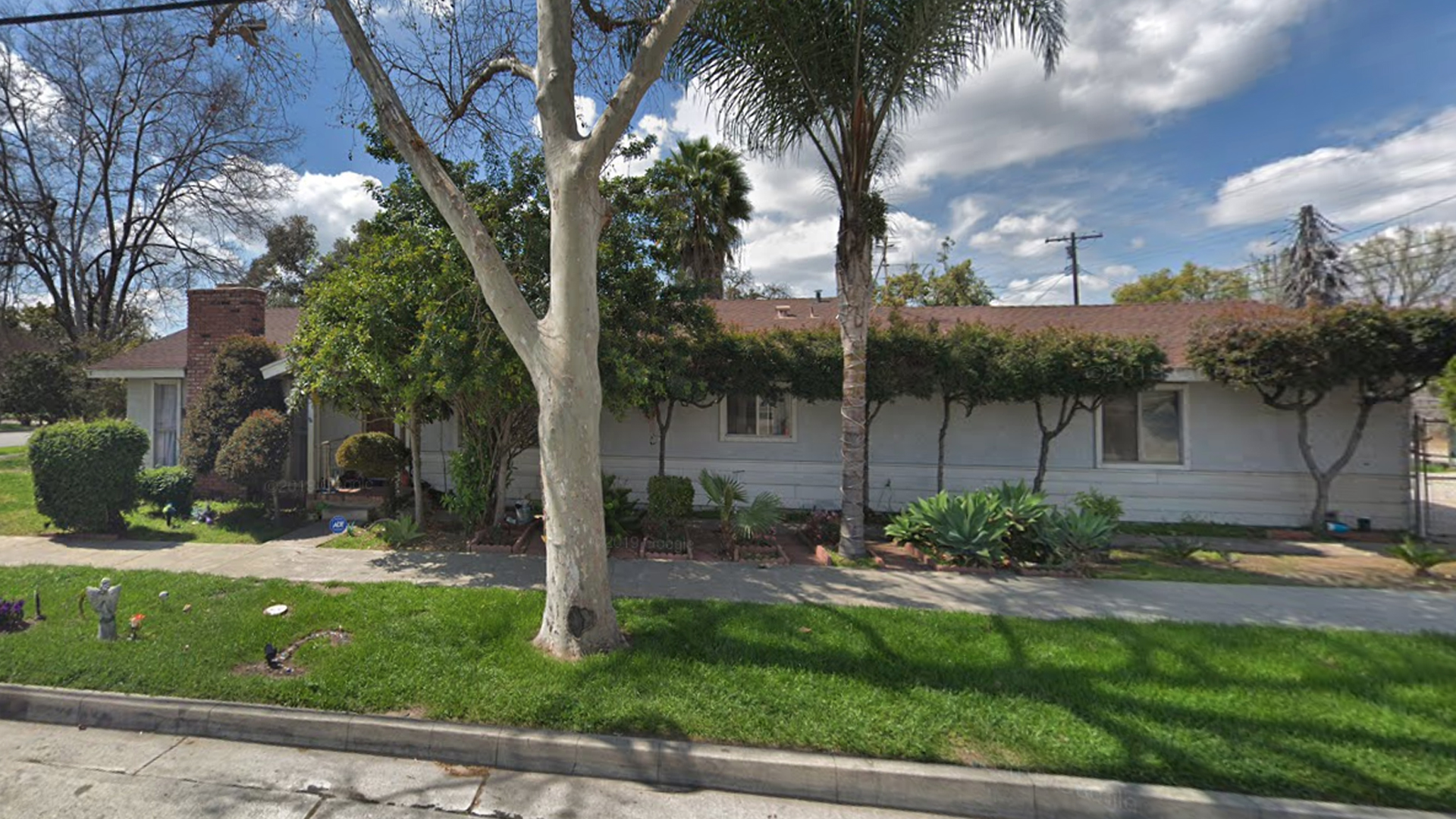 The Pomona home where police say a fatal shooting occurred in June 2017 is seen in a Google Maps Street View image from March 2019.