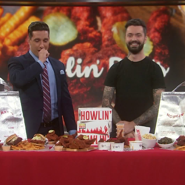 Johnny Ray Zone, owner of Nashville hot chicken sensation Howlin' Ray's, appeared on KTLA on June 21, 2019. (Credit: KTLA)