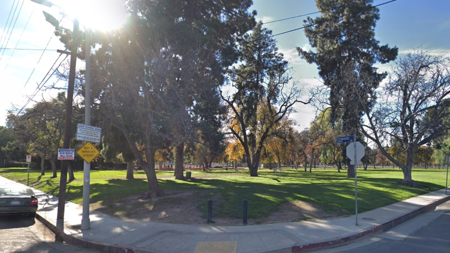 Reseda Park is shown in a Street View image from Google Maps.