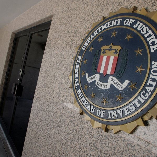 The FBI logo is seen in this undated file photo. (Credit: Joe Raedle/Getty Images)