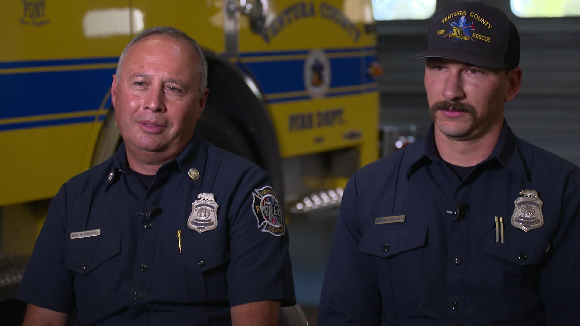 From a mass shooting to a major wildfire, two California firefighters recount a harrowing 24 hours in an interview with CNN on June 13, 2019. (Credit: CNN)