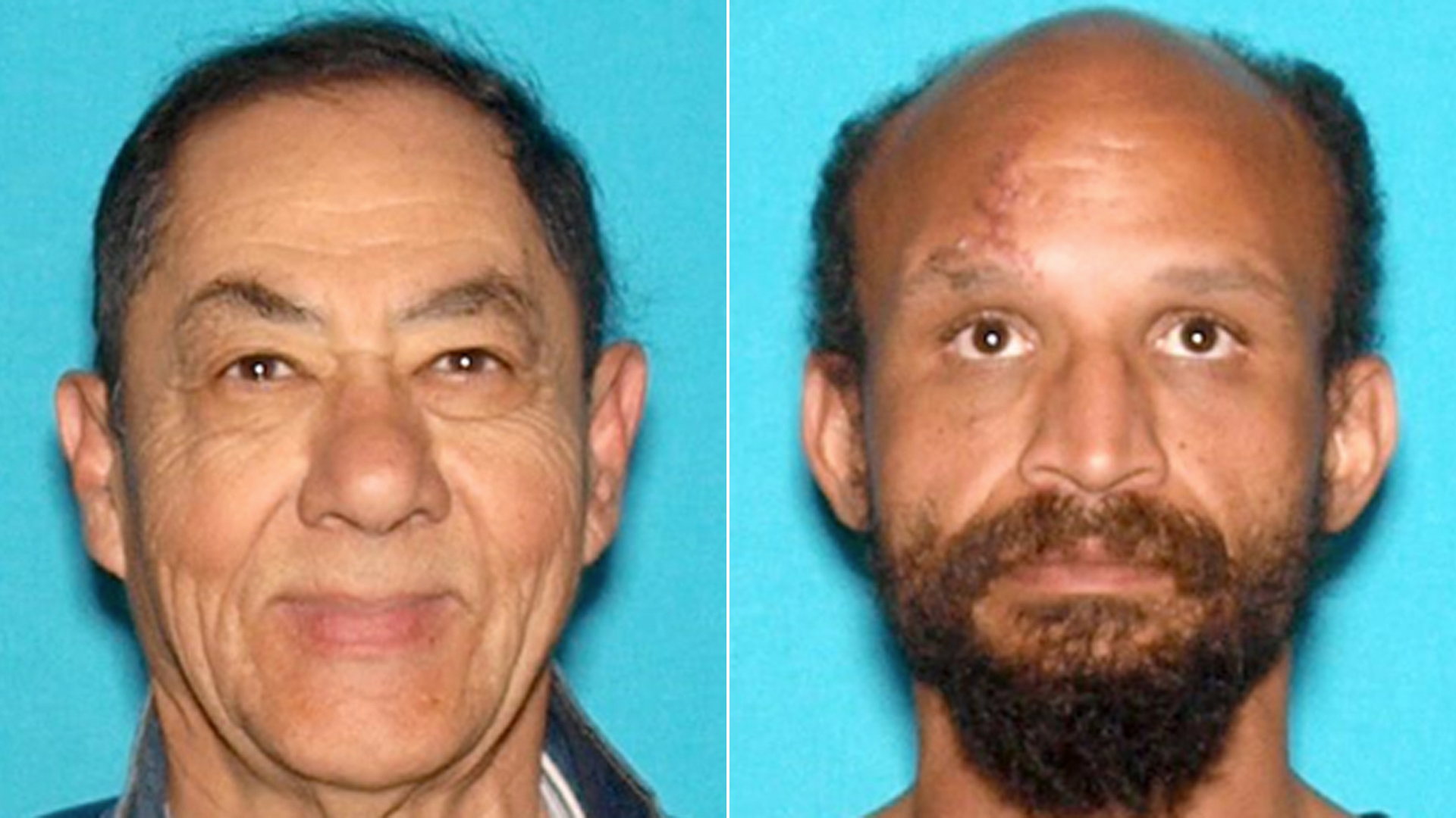 Homicide victim Hernando Beltran, 62, of San Bernardino, left, and suspect Donald Eugene Renfro, 39, of San Bernardino, pictured in photos released by the San Bernardino Police Department on June 13, 2019.