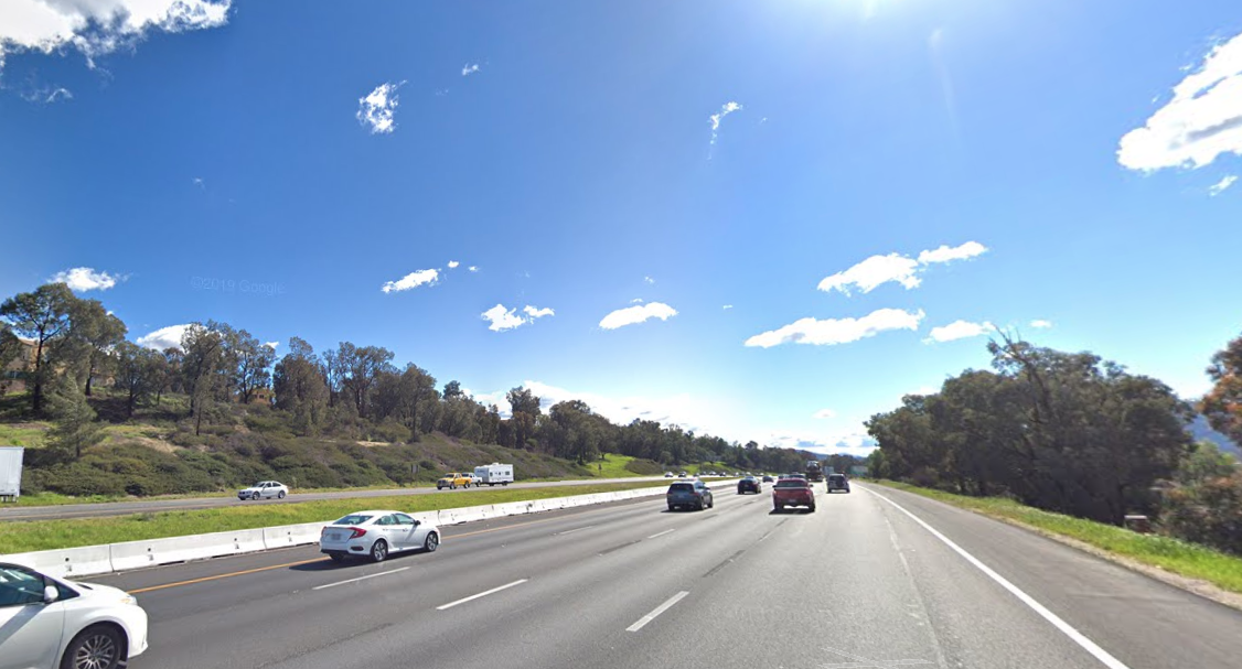 The 15 Freeway in Temecula is seen in a Google Maps Street View image on June 4, 2019.