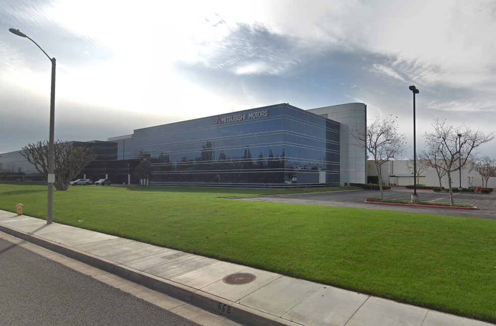 Mitsubishi North America's building in Cypress is seen in a Google image.