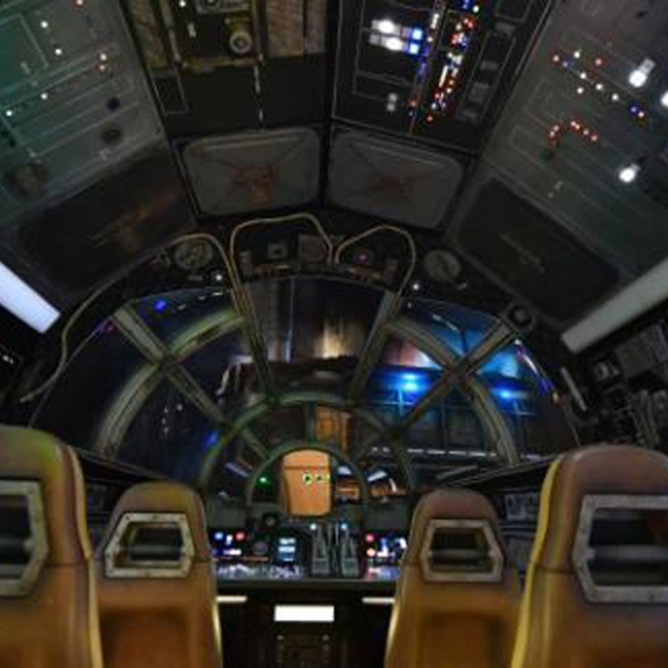 The Millennium Falcon ride at Disneyland is seen in this handout image from Disney.