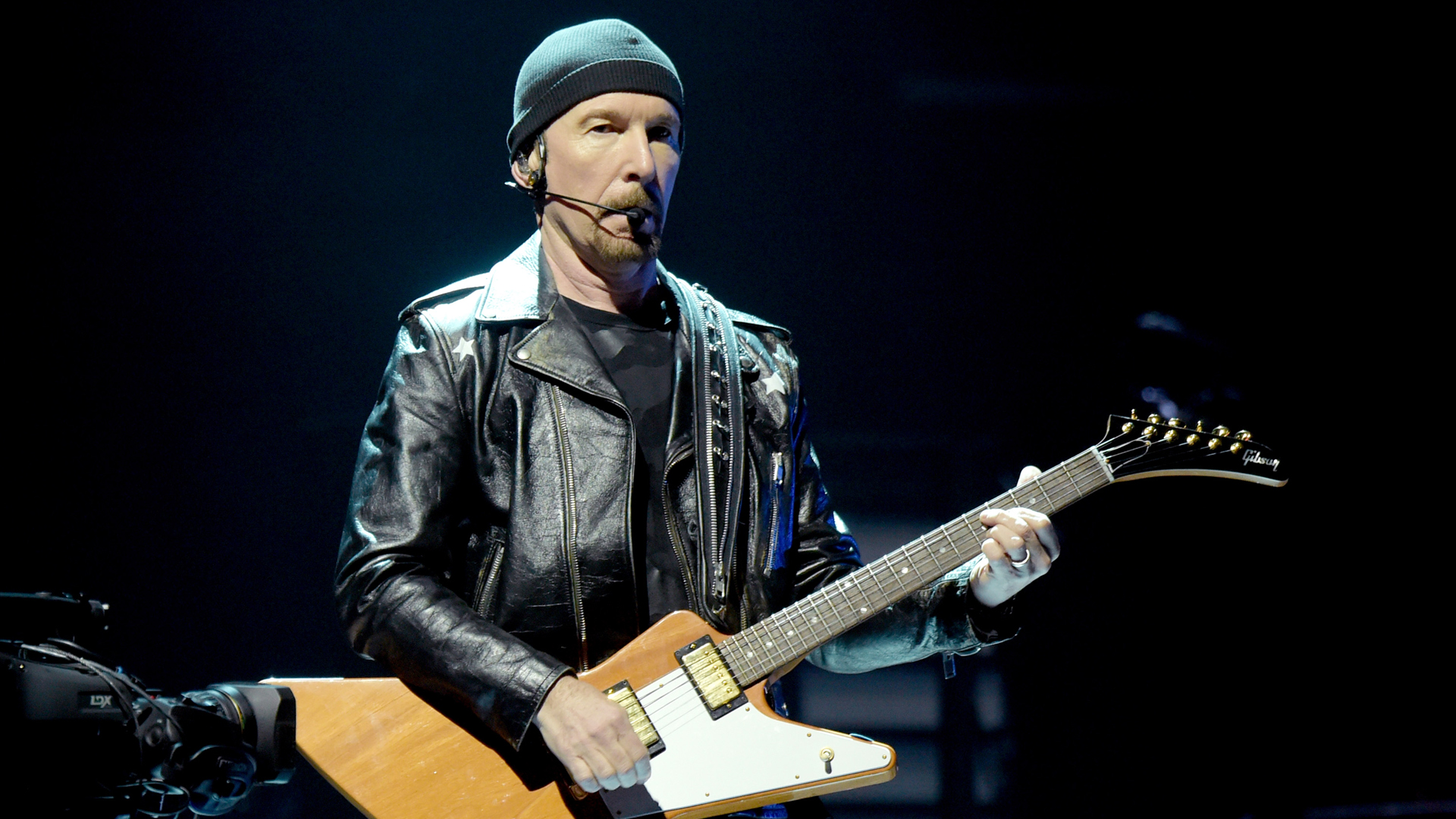 The Edge of U2 performs at The Forum on May 16, 2018 in Inglewood. (Credit: Kevin Winter/Getty Images)