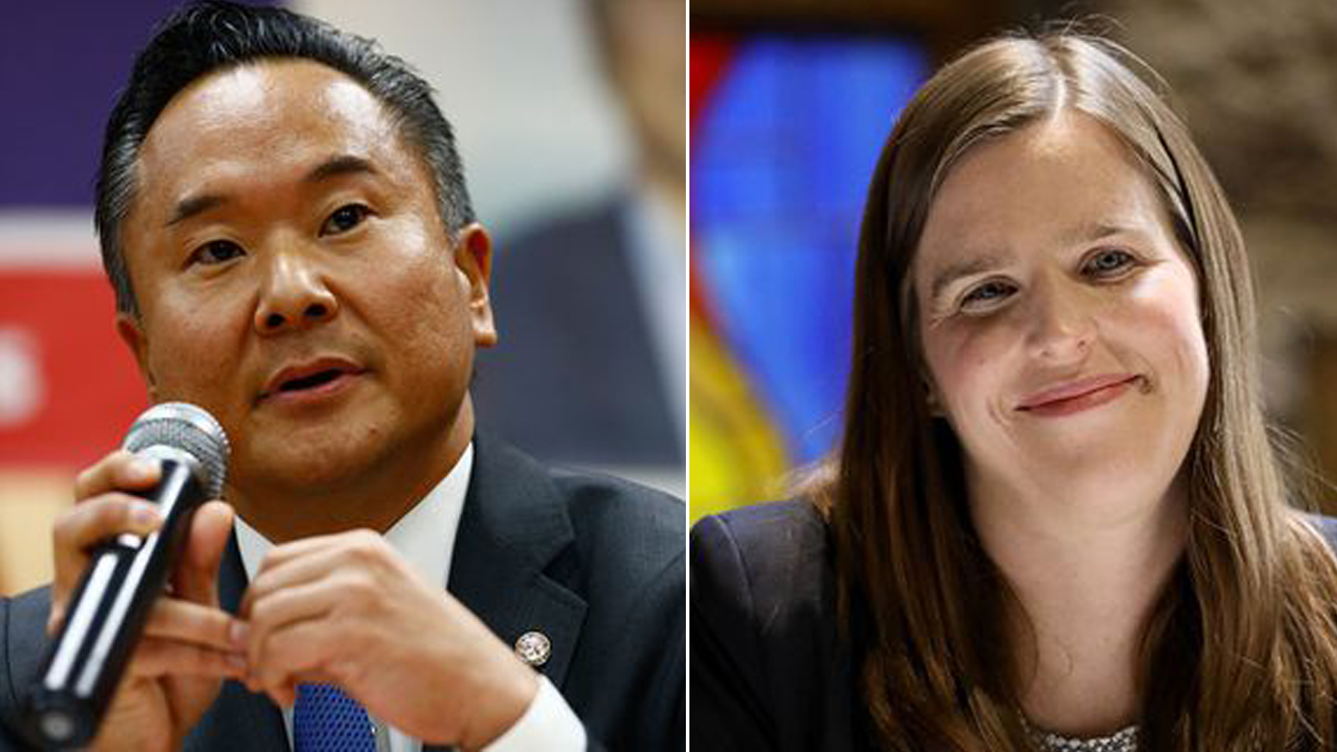 John Lee, left, will face Loraine Lundquist in a runoff. (Credit: Los Angeles Times)