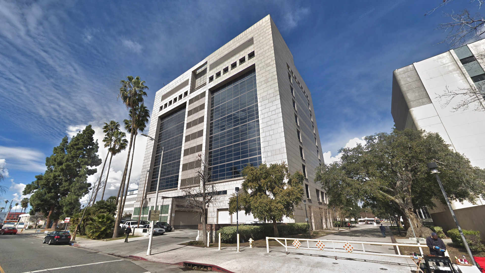 The Van Nuys branch of Los Angeles County Superior Court, 14400 Erwin Street in Van Nuys, as viewed in a Google Street View image in February of 2019.