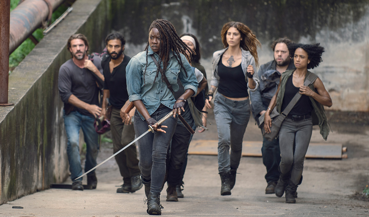 """A scene from """"The Walking Dead"""" is seen in a photo posted on AMC's website in May 2019."""