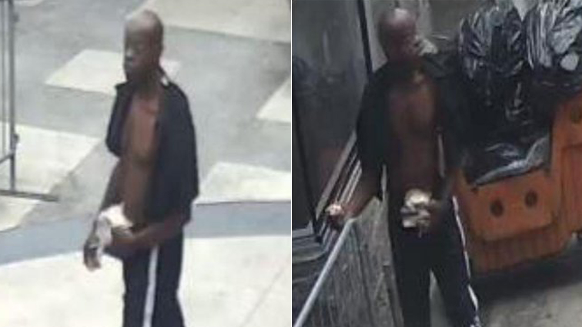The suspect in the brutal beating of a 75-year-old man in downtown Los Angeles is seen in surveillance images released by L.A. police on June 19, 2019.
