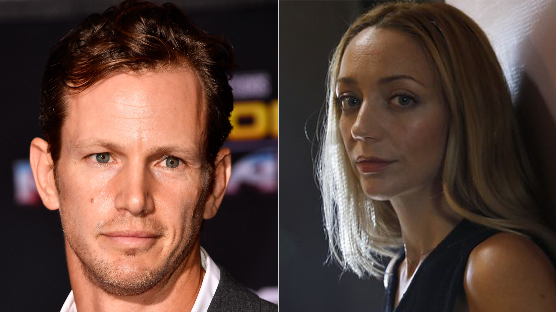 From left to right: Kip Pardue is seen in Los Angeles on Oct. 10, 2017. (Credit: Frazer Harrison/Getty Images) Actress Sarah Scott is seen in an undated photo. (Credit: Christina House / Los Angeles Times)