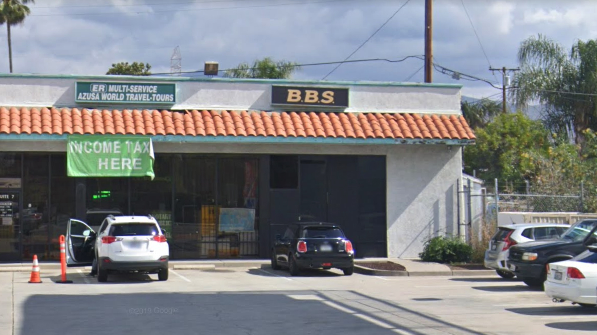 The B.B.S. marijuana dispensary, 16725 E. Arrow Highway in Azusa, as pictured in a Google Street View image in May of 2019.