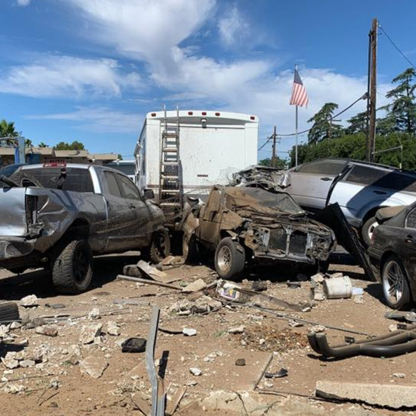 Police released this photo of a crash in Beaumont on July 19, 2019.