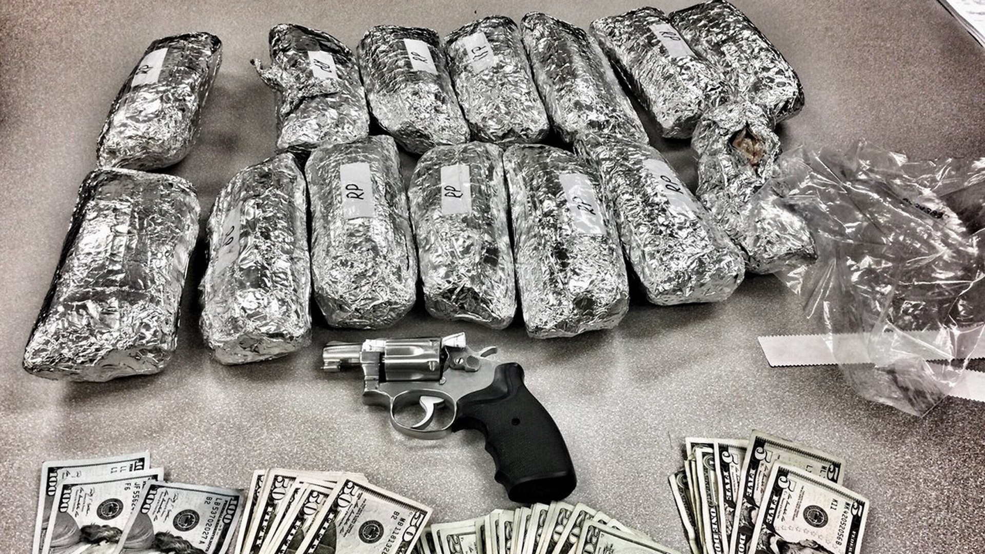 """LAPD released this photo of the alleged """"meth burritos"""" recovered in February 2018."""
