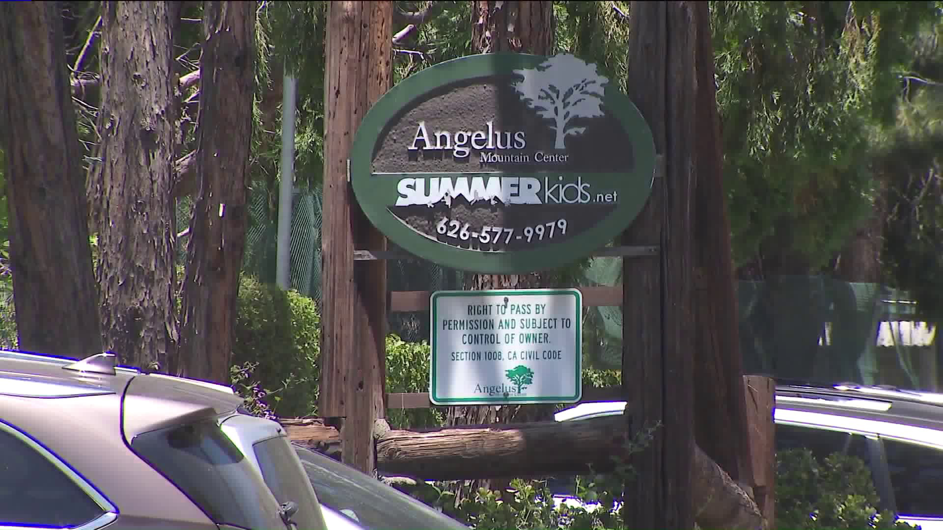 A sign for Summerkids camp in Altadena is seen on June 28, 2019. (Credit: KTLA)