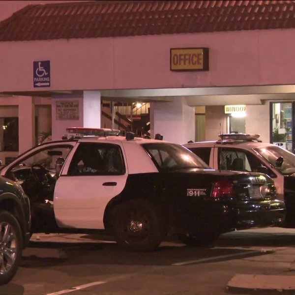 Deputies respond to the Valley Inn in La Puente following reports of a shooting on July 3, 2019. (Credit: KTLA)