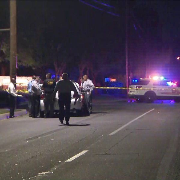 Deputies investigate in the area of Descanso and Pipeline avenues in Chino Hills following a deputy-involved shooting on July 16, 2019. (Credit: KTLA)