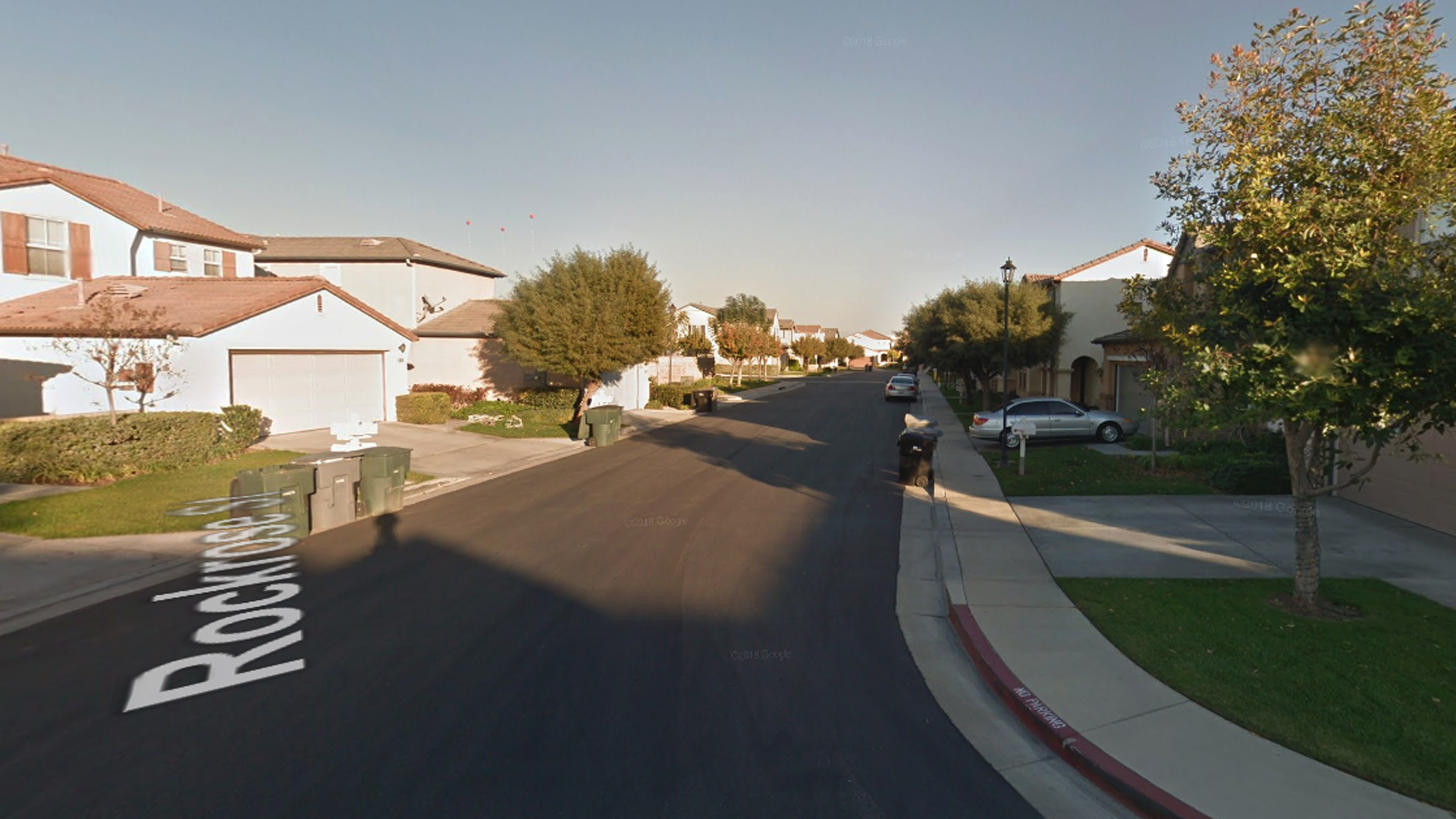The 6800 block of Rockrose Street in Chino, as viewed in a Google Street View image in December of 2014.