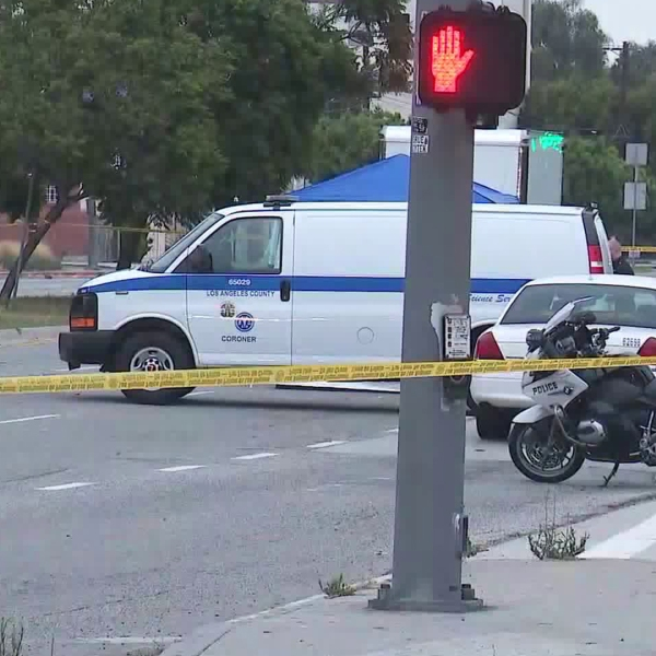 An investigation is underway into the hit-and-run death of a man in Mid-City on July 19, 2019. (Credit: KTLA)