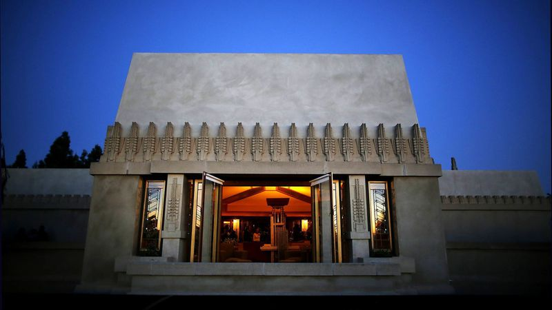 Frank Lloyd Wright's Hollyhock House in East Hollywood is seen in an undated photo. (Credit: Barbara Davidson / Los Angeles Times)