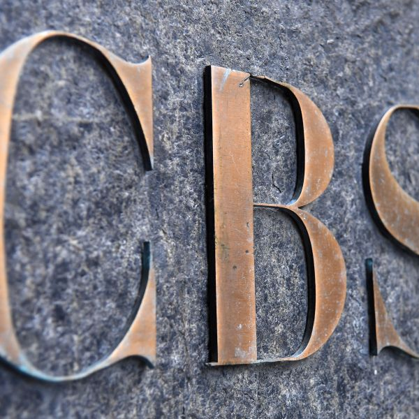 The CBS logo is seen at the CBS Building, headquarters of the CBS Corporation, in New York City on August 6, 2018. (Credit: ANGELA WEISS/AFP/Getty Images)