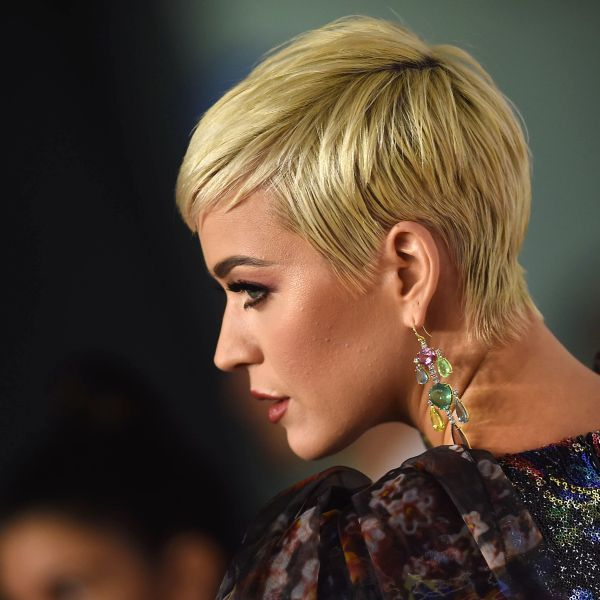 Katy Perry arrives at the 2019 MusiCares Person Of The Year gala at the Los Angeles Convention Center on Feb. 8, 2019. (Credit: VALERIE MACON/AFP/Getty Images)