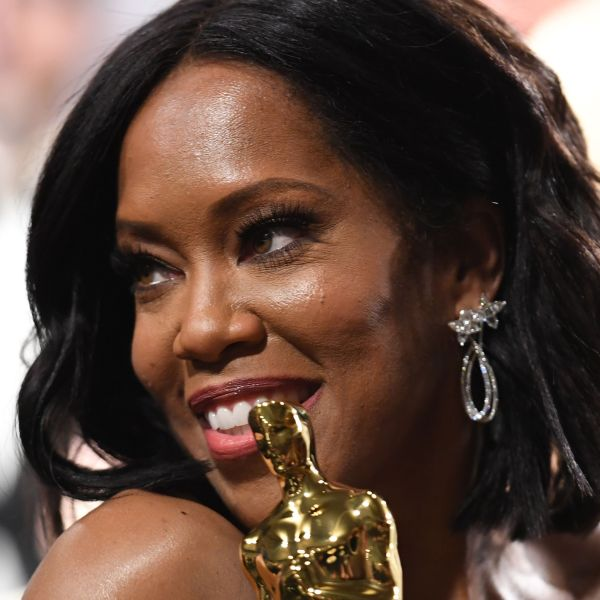 """Best Supporting Actress winner for """"If Beale Street Could Talk"""" Regina King attends the 91st Annual Academy Awards Governor's Ball at the Hollywood & Highland Center in Hollywood, Feb. 24, 2019. (Credit: ROBYN BECK/AFP/Getty Images)"""