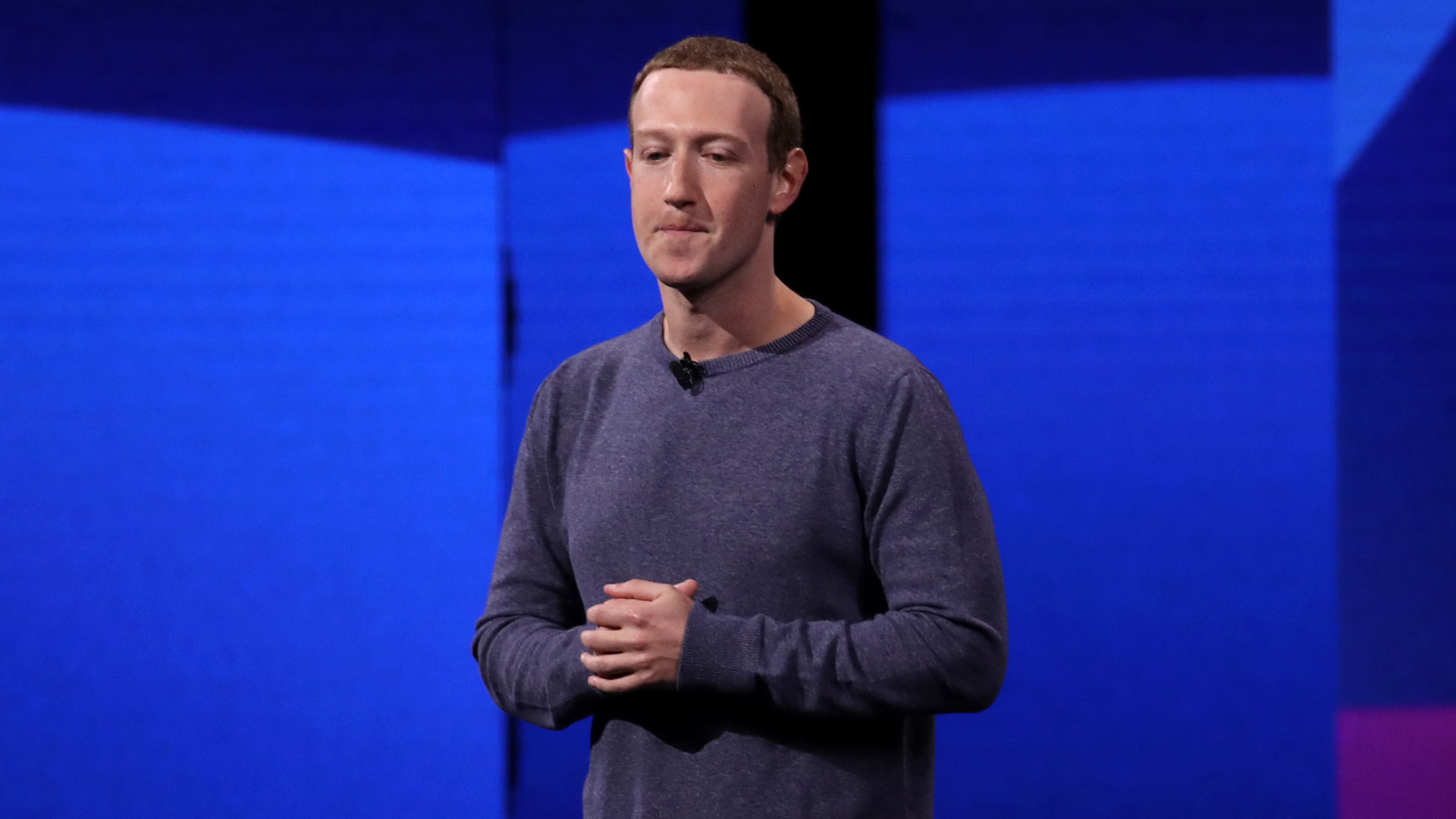 Facebook CEO Mark Zuckerberg speaks during the F8 Facebook Developers conference on April 30, 2019 in San Jose, California.(Credit: Justin Sullivan/Getty Images)