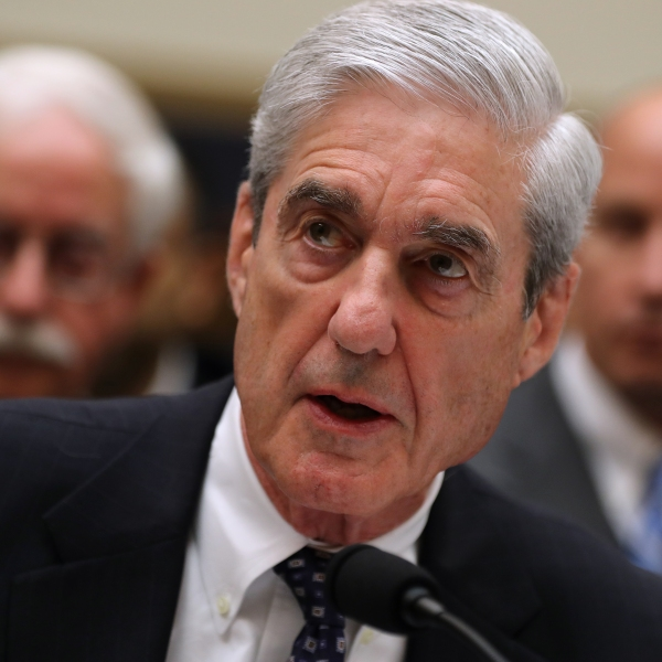 Former Special Counsel Robert Mueller testifies before the House Judiciary Committee about his report on Russian interference in the 2016 presidential election in the Rayburn House Office Building July 24, 2019 in Washington, DC. (Credit: Chip Somodevilla/Getty Images)