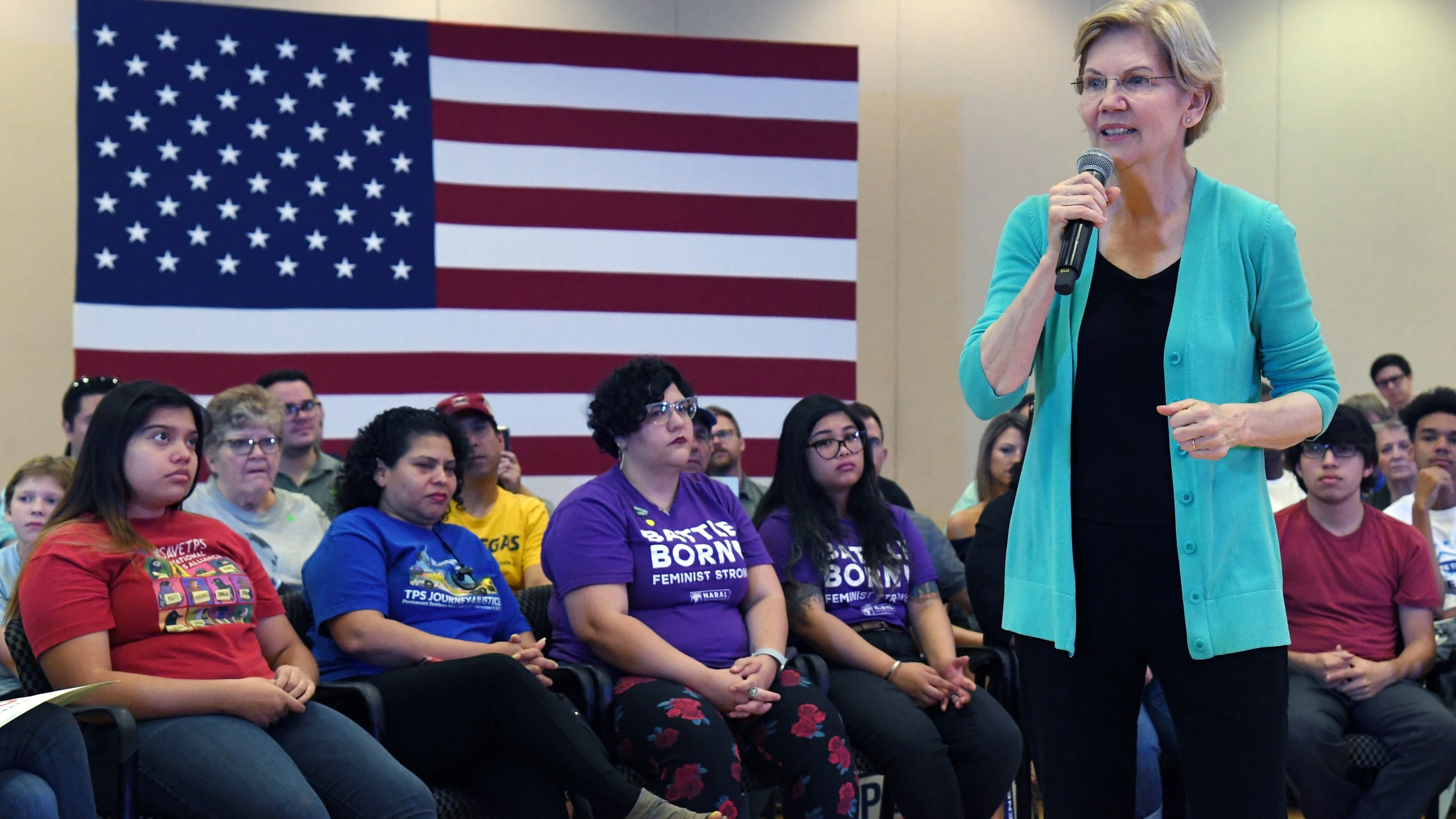 Democratic presidential candidate U.S. Sen. Elizabeth Warren (D-MA) speaks during a community conversation at the East Las Vegas Community Center on July 2, 2019. (Credit: Ethan Miller/Getty Images)