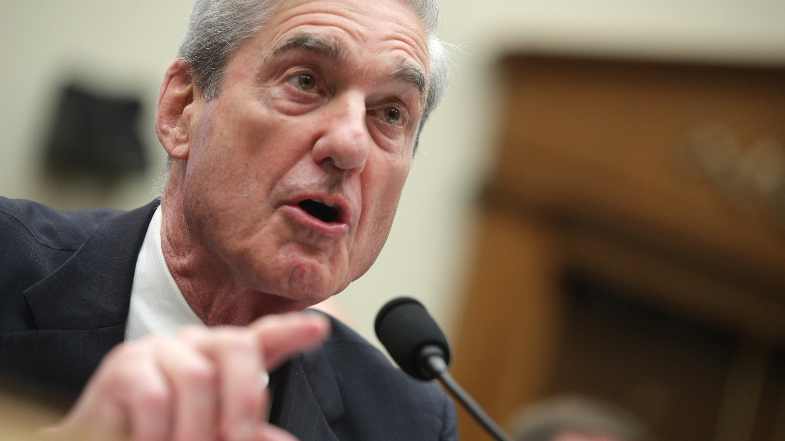 Former Special Counsel Robert Mueller testifies before the House Intelligence Committee about his report on Russian interference in the 2016 presidential election in the Rayburn House Office Building, on July 24, 2019, in Washington, D.C. (Credit: Alex Wong/Getty Images)