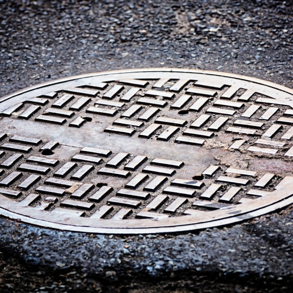 A manhole cover is seen in this file photo. (Credit: Getty Images)