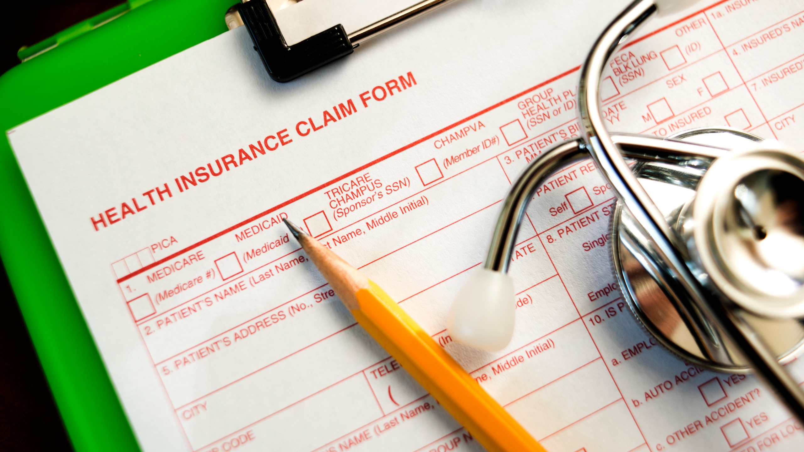 A health insurance claim form is seen in this undated photo. (Credit: Getty Images)