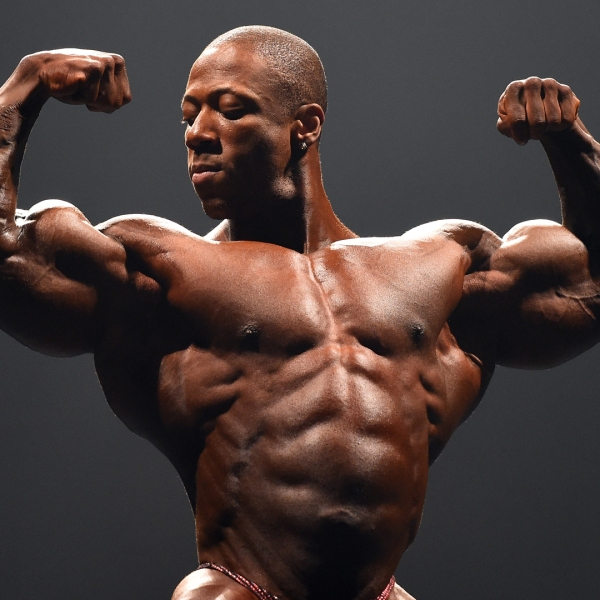 Shawn Rhoden poses during the IFBB Australian Pro Grand Prix XIV at Plenary Hall on March 8, 2014, in Melbourne, Australia. (Credit: Robert Cianflone/Getty Images)