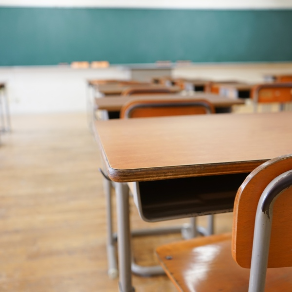 A classroom appears in a file photo. (Credit: Getty Images)