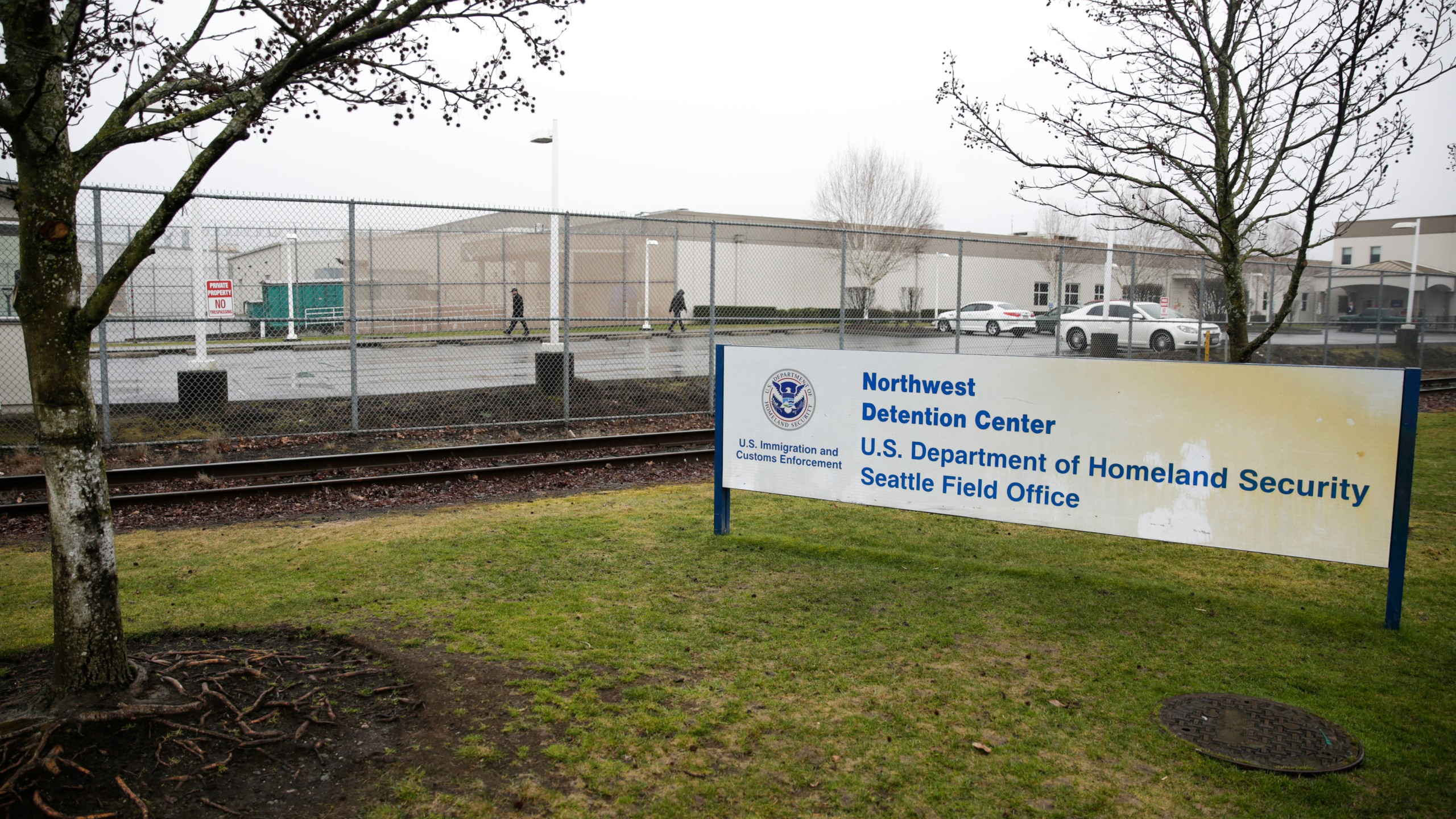 The U.S. Department of Homeland Security Northwest Detention Center is pictured in Tacoma, Washington on Feb. 26, 2017. (Credit: JASON REDMOND/AFP/Getty Images)