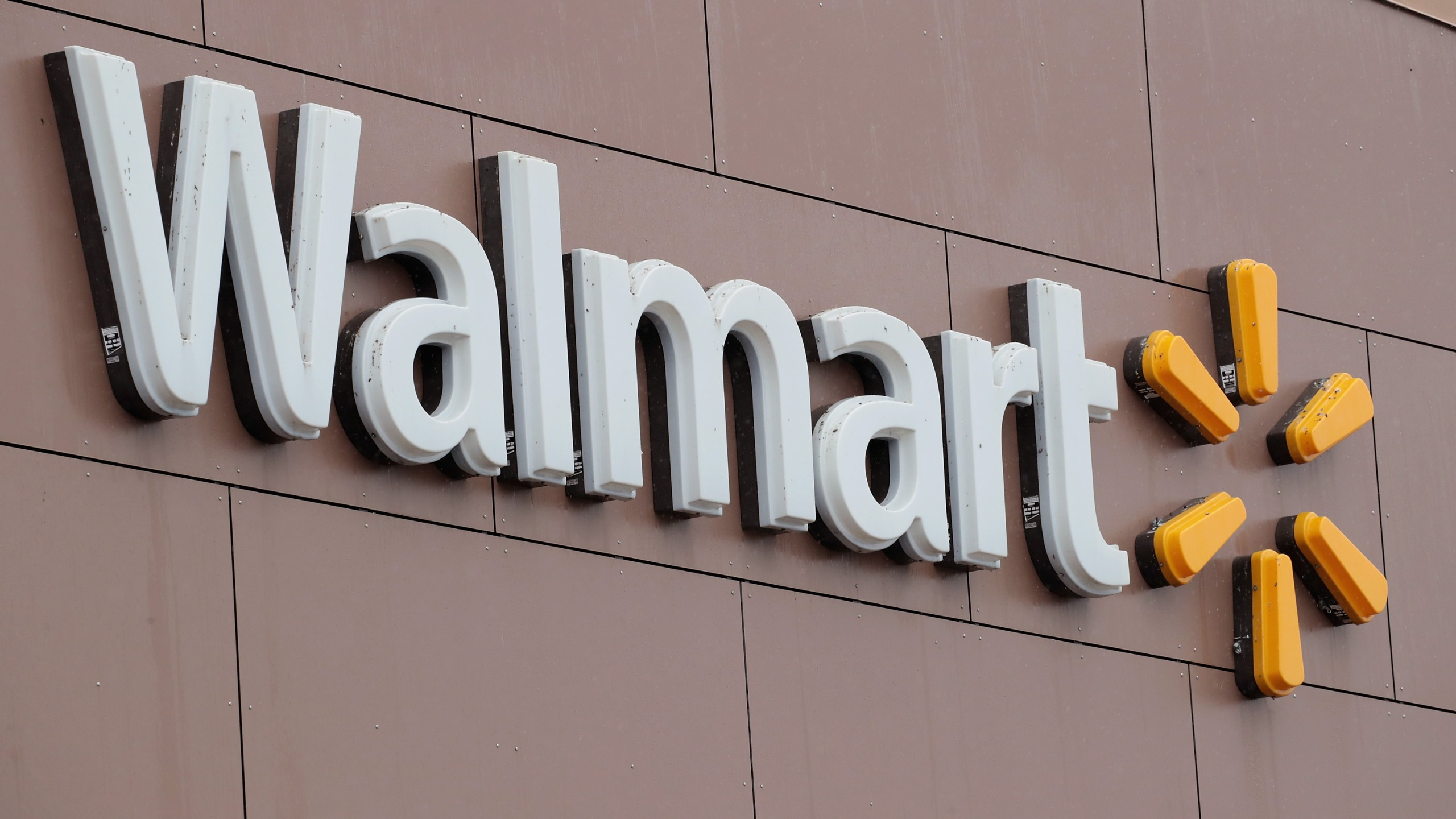 The Walmart logo is seen in a file photo. (Credit: Scott Olson/Getty Images)